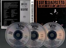"""ELLA FITZGERALD """"First Lady Of Song"""" (3 CD Digibook) 1993"""