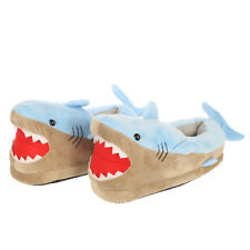 NOVELTY SHARK ATTACK SHAPED HIGH QUALITY SUPER SOFT PLUSH SLIPPERS NEW WITH TAGS