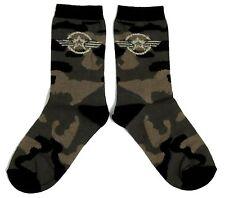 LADIES KHAKI CAMOUFLAGE US AIR FORCE STAR SOCKS UK 4-8 EUR 37-42 USA 6-10