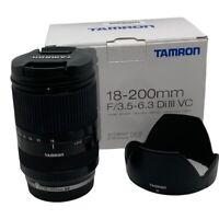 TAMRON 18-200mm f3.5-6.3 Di III VC Lens BLACK (B011) Canon EOS-M Mirrorless