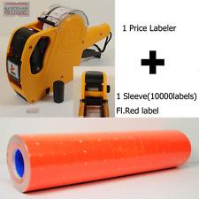 8 Digits Motex Price Gun Labeler Mx-5500 & Free 10000 Orange Labels +Free Ink