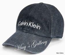 CK Calvin Klein  BaseBall Cap Ball Hat Military NWT One Size  C.K. Black  Denim
