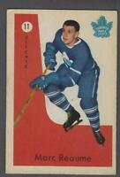 1959-60 Parkhurst Toronto Maple Leafs Hockey Card #11 Marc Reaume