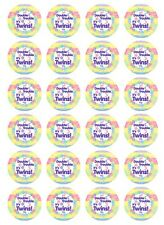 24 x Twins Baby Shower Edible Cupcake Toppers Pre-Cut