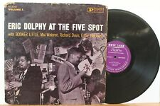"""Eric Dolphy LP """"At The Five Spot"""" ~ New Jazz 8260 ~ DG RVG Mono ~ Booker Little"""
