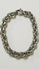 Men's Heavy Rolo Link Bracelet 8.5 inch Long Joseph Tyler Designer Collection