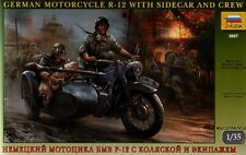 Zvezda 1/35 German R12 Motorcycle w/ Sidecar and Crew # 3607
