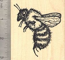 Extra Large Detailed Bee Rubber Stamp L2208 Wood Mounted Summer, Insect, Bug