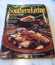SOUTHERN LIVING Magazine, February 1998 Chocolate Desserts, Mardi Gras, Gardens