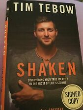 TIM TEBOW SIGNED*SHAKEN DISCOVERING YOUR TRUE IDENTITY*HCDJ 1ST EDITION WOW!!