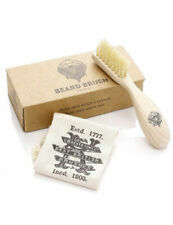 Kent Mens Combs Right Handed Beard Brush BRD2 With Storage Bag & Box Gift Set