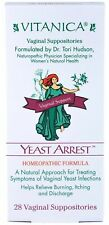 Vitanica Yeast Arrest, Homeopathic Vaginal Suppository   Burning Itching   28 ct