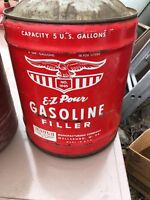 Vintage EAGLE 5 Gallon Gas Can for Display Or Use. Pre-ban ez pour USA