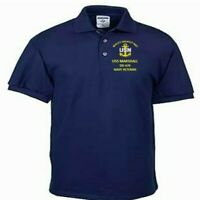 USS MARSHALL  DD-676  NAVY ANCHOR EMBROIDERED LIGHT WEIGHT POLO SHIRT
