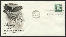#2112 'D' Eagle, Art Craft FDC **ANY 4=FREE SHIPPING**