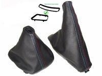 Gear Handbrake Gaiter with Plastic Frames For Bmw E46 Leather M3 Stitch