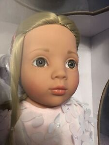 "New in Box Gotz 19"" Happy Kidz Emma Doll Blonde Hair & Gray Eyes Dress Shoes Dvd"
