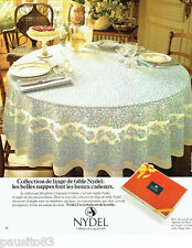 PUBLICITE ADVERTISING 066  1978  Nydel nappe linge de table Bali