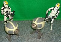 Star Wars Republic Gunship Turret + Clone Trooper Pilot Action figure Lot - Used