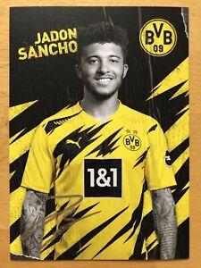 Jadon Sancho Ak Borussia Dortmund 2020-21 Autograph Card Original Signed