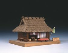 Woody JOE Wooden Building Model Kit No.3 Tea Shop in a Village Laser Cut