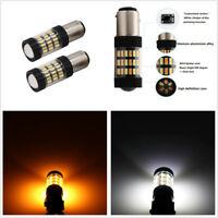 2X 1157 4014 Dual Color Switchback LED Turn Signal Lights 60SMD Replacement Bulb