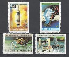 St. Thomas & Prince Islands 1980 Sc#578-81 Moon Landing,10th Anniv.  MNH $13.95