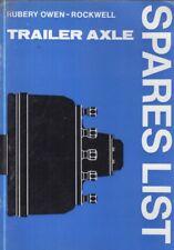 Rubery Owen remorque essieu (avec S Cam & Wedge Freins) Usine catalogue de pièces