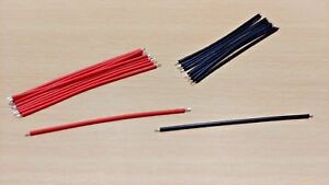 10 PAIRS - 60mm PCB Jumper link Cable Wires Tinned - Black & Red (20 pieces)