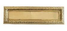 Heavy Brass Regency Letter Plate - Large antique post box cover (32cm x 10cm)
