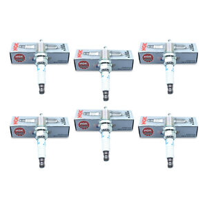 6 X New NGK Laser Platinum Resistor Performance Power Spark Plugs PFR6B11 # 4014
