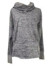 ATHLETA Long Sleeve Medium Cowl Neck Shirt Thumb Loops Kangaroo Pocket