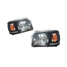 For Toyota Hiace 200 Van 2005-20010 Crystal Lens Black Base DRL Headlight Lamp