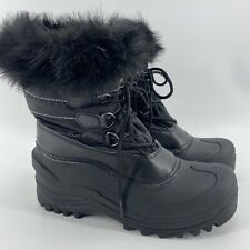 Women's Itasca Thinsulate Waterproof Winter Boots Size 6 Black *Mint*