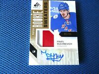 2016-17 SP ROOKIE AUTO SWEATERS 2 COLOR PAVEL BUCHNEVICH NEW YORK RANGERS 90/99