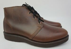 Wolverine Palmer Plain Toe Chukka Brown Leather Boots W40200 Size 8 D