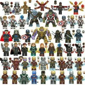 Compatibilité Lego Minifigures Jouets Marvel DC Thor Loki Infinity Super Heroes