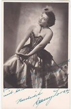 EMMY LOOSE opera soprano signed photo as Adele in Die Fledermaus