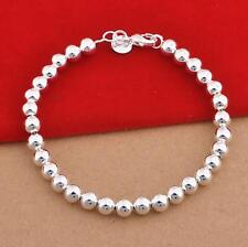 Stunning 925 Sterling Silver Classic 6MM High Polished Bracelet Bead Gorgeous