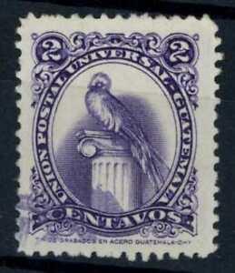 Guatemala 1954-63 SG#555a 2c Replendent Quetzal Bird, P12.5 Used #E85255