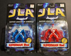 Superman Red & Blue Kenner Hasbro 1998 Justice League America JLA Figure Lot