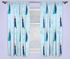 """Luces de Disney Frozen 66 X 72"""" conjunto de cortinas Anna Elsa Niñas Niños Dormitorio Azul"""