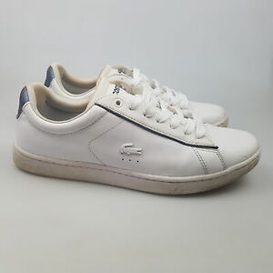 Women's LACOSTE 'Carnaby Evo 318' Sz 9 US Shoes White VGCon | 3+ Extra 10% Off