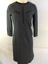 LRL Ralph Lauren Warm Knee Length Gray Dress Women's Size Small