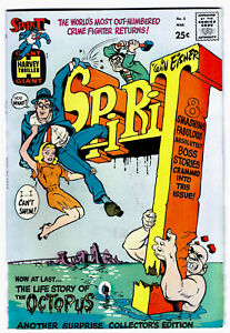 THE SPIRIT #2 in VF/NM- a 1967 Harvey Giant Silver Age comic  WILL EISNER