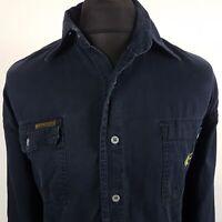 Calvin Klein Mens Vintage DENIM Shirt XL Long Sleeve Blue Regular Fit Cotton