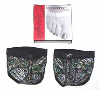 NIP New Capezio FootUndeez Shoe Foot Underwear Black BLK H07 Dance Girl Adult