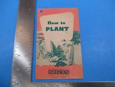 Vintage How To Plant Breck's Seedsmen Boston Massachusetts S4305