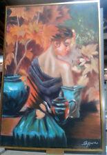 Künstlerische Malereien auf Leinwand im Expressionismus-Stil und Öl-Technik