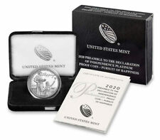 2020 W $100 1 oz Platinum American Eagle Pursuit of Happiness Proof Coin in OGP
